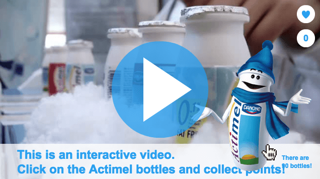 Danone interactieve video